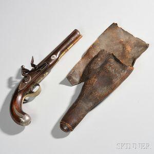 American-made Flintlock Pistol and Holster