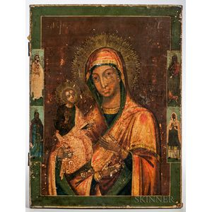 Russian Icon Depicting the Mother of God with Three Hands