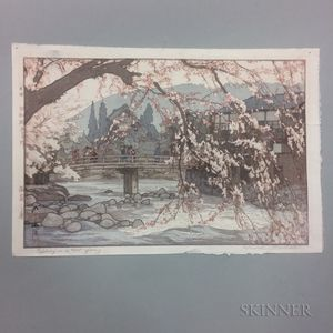 Hiroshi Yoshida (1876-1950), Spring in a Hot Spring  ,