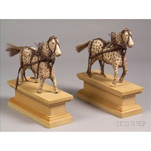 Pair of Carved and Painted Horse Figures