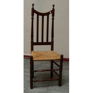 Maple Bannister-back Side Chair with Woven Rush Seat.