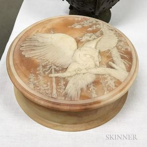 Owl-decorated Round Resin Box
