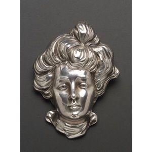 Art Nouveau Sterling Silver Brooch, Unger Bros.