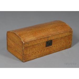 Putty-Painted Dome Top Pine Box
