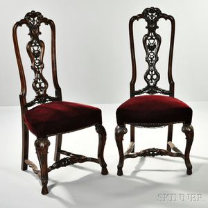 Pair of Anglo-Portuguese-style Side Chairs