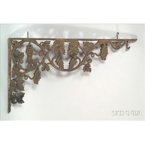 Cast Iron Bracket with Grapevines
