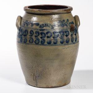 Six-gallon Cobalt-decorated Jar