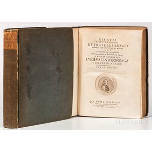 Marini, Luigi Gaetano (1742-1815) Gli Atti e Monumenti de Fratelli Arvali Scolpiti gia