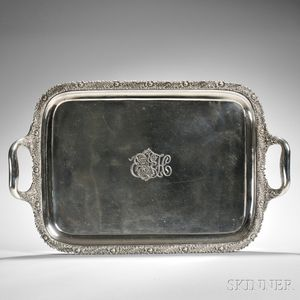 "Tiffany & Co. ""Chrysanthemum"" Pattern Sterling Silver Tray"