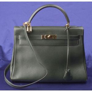 "Courcheval Leather ""Kelly"" Handbag, Hermes"