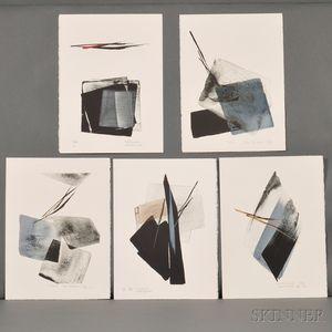 Toko Shinoda (b. 1913), Five Color Lithographs