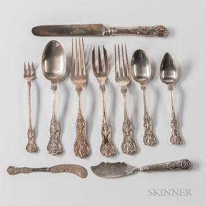 "Assorted Group of ""Kings"" Pattern Sterling Silver Flatware"
