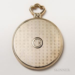 14kt Gold-cased Compact Mirror