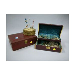 Large Assortment of Costume Jewelry and Dresser Articles.