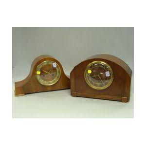 Seth Thomas Art Deco Mahogany Veneer and a German Rosewood Veneer Mantel Clocks.