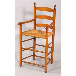Maple Turned Slat-back Armchair