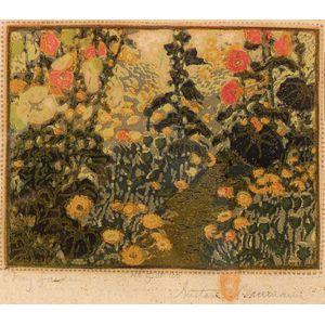 Gustave Baumann (German/American, 1881-1971)    My Garden