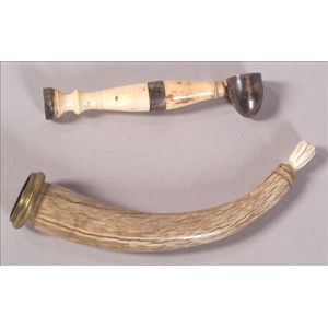 Two Horn and Ivory Articles