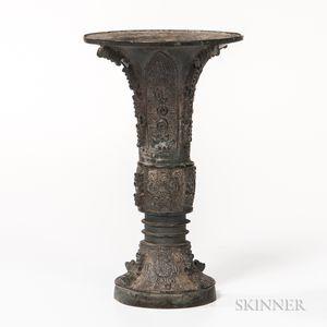 Bronze Archaic-style Gu   Vase