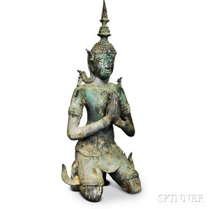 Three Southeast Asian Bronze Statues