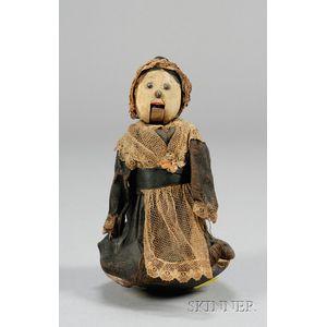 Painted Folk Art Balancing Doll Toy