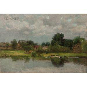 John Joseph Enneking (American, 1841-1916)      Hyde Park on the Neponset