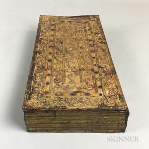 Paint and Gilt Decorated Sutra