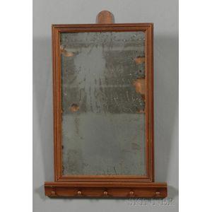 Shaker Butternut and Walnut Hanging Mirror