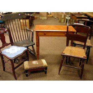 Six Pieces of Assorted 19th Century Furniture