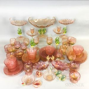 Sixty Pieces of Venetian Tableware