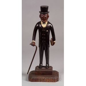 Folk Art Carved and Painted Wooden Abraham Lincoln Figure
