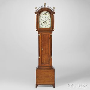 David Wood Cherry Tall Clock