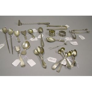 Approximately Twenty-eight Assorted Sterling Silver Flatware and Table Items