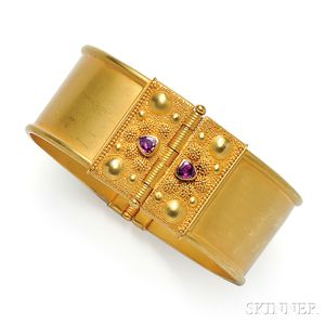 22kt Gold and Ruby Bracelet