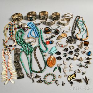 Group of Mostly Mexican and Native American Jewelry