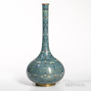 Cloisonne Crane-neck Vase