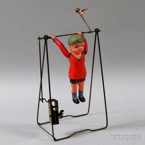 Windup Celluloid Highbar Performer Toy