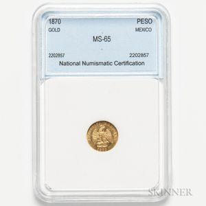 1870 Mexican Gold Peso