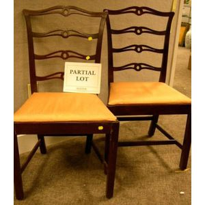 Set of Six Chippendale-style Mahogany Ribbon-back Dining Chairs