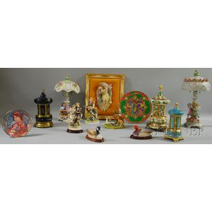 Thirteen Assorted Decorative and Collectible Ceramic Articles
