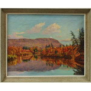 Oscar F. Adler (Massachusetts, 1868-1932)       Autumn Landscape.