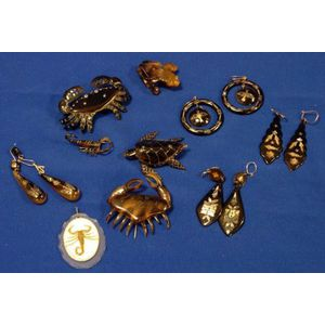 Group of Mexican Tortoiseshell Jewelry