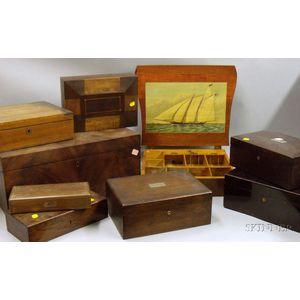 Nine Wooden Boxes
