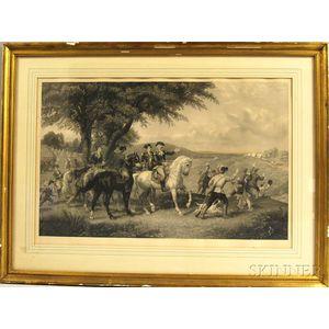 Framed Knoedler & Co. Hand-colored Engraving of Washington
