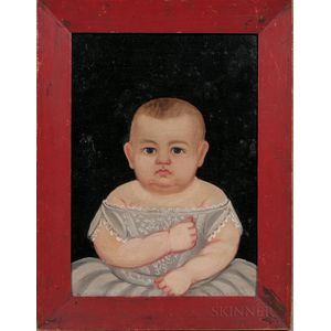 Prior/Hamblen School, Mid-19th Century      Portrait of a Baby