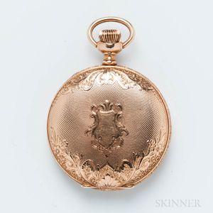 James Mix 14kt Gold Hunter-case Pocket Watch