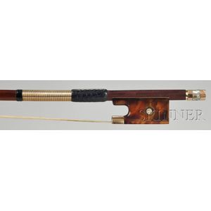 French Gold Mounted Viola Bow, Victor Fetique