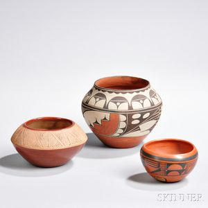 Three Southwest Pottery Bowls