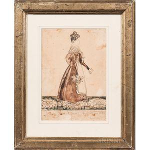 Joseph Davis (Maine/New Hampshire, 1811-1865)      Maria Jane Cram: Aged 20 years 1833