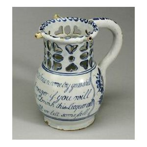 Delftware Blue and White Puzzle Jug